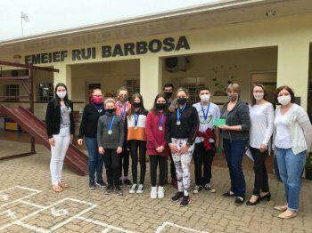 2° lugar Ensino Fundamental - anos finais - EMEIEEF Rui Barbosa