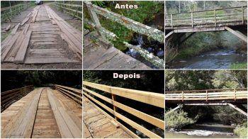 Parceria entre municípios recupera ponte histórica