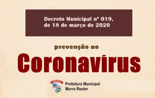Decreto Municipal dispões sobre medidas contra o Coronavírus
