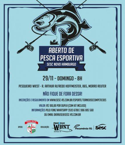 Morro Reuter sediará o 1º Aberto de Pesca Esportiva,