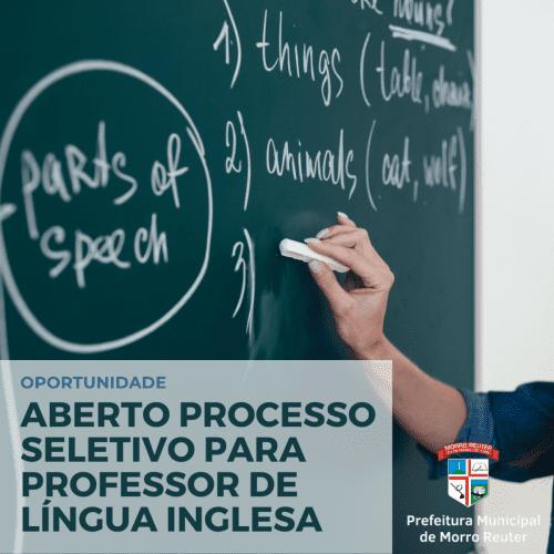 Morro Reuter tem processo seletivo para professor de língua inglesa