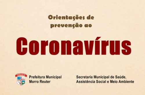 Orientações - Coronavírus