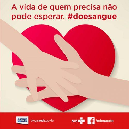 Sábado será feita ação de doação de sangue!