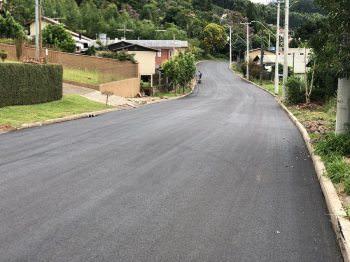 Concluído o asfalto da Rua Bela Vista