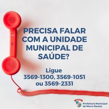 Telefones da Unidade Municipal de Saúde