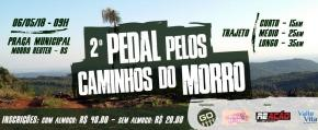 Abertas as inscrições para o 2º Pedal Pelos Caminhos do Morro