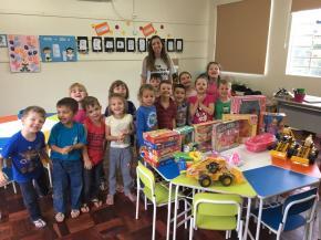 Brinquedos novos para a Educação Infantil de Morro Reuter