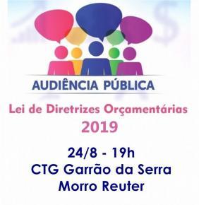 Sexta, dia 24, tem Audiência Pública sobre LDO 2019